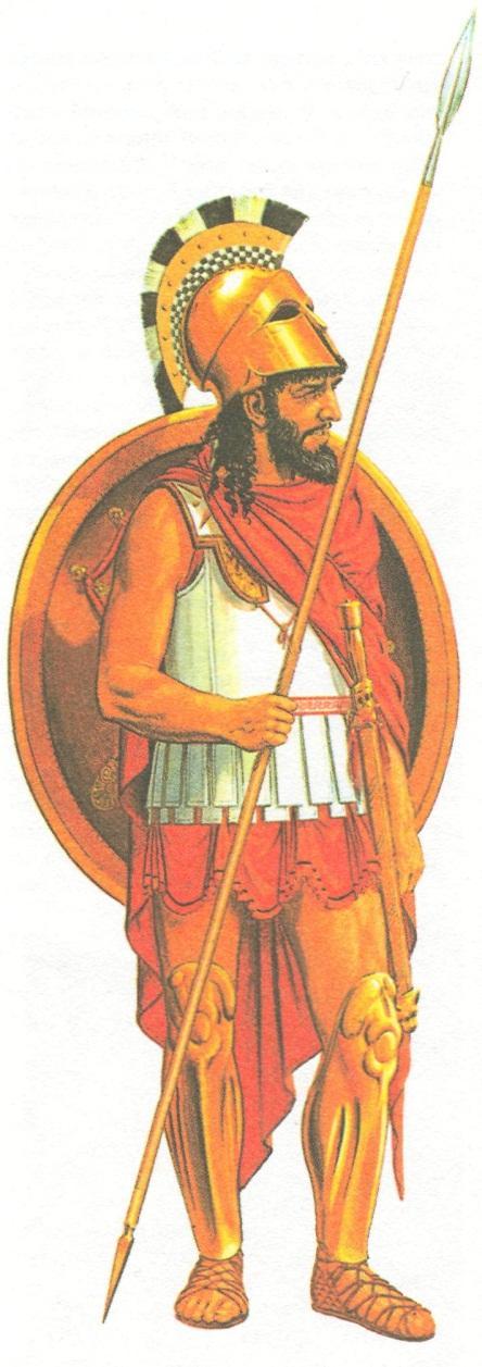 Спартанский гоплит в 500 г. до