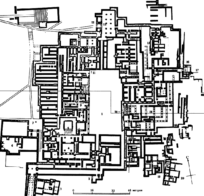План Кносского дворца: