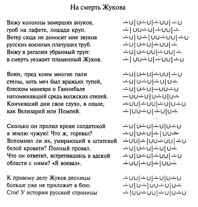 Стихотворения «На смерть…