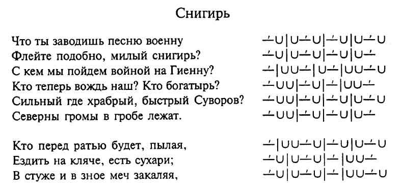 схема стихотворения