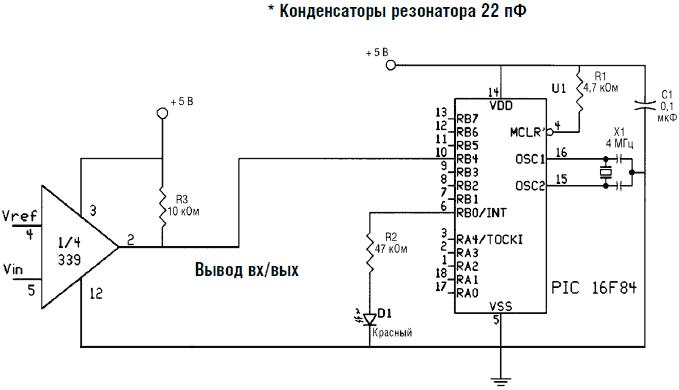 Схема чтения компаратора