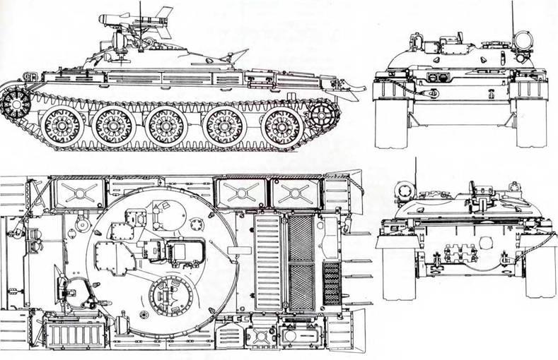 Схема танка ИТ-1 (чертил